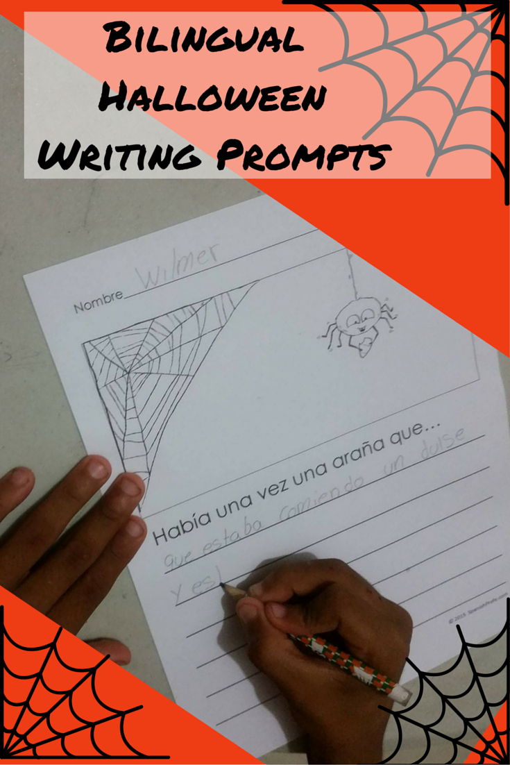 Bilingual Halloween Writing Prompts - Spanish Profe
