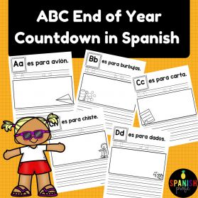 ABC Countdown in Spanish for End of School Year
