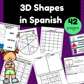 3D Shapes in Spanish (Figuras geométricas – formas 3D)